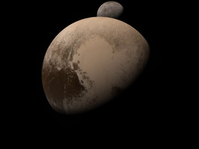 Simulation of the New Horizons Pluto-Charon flyby