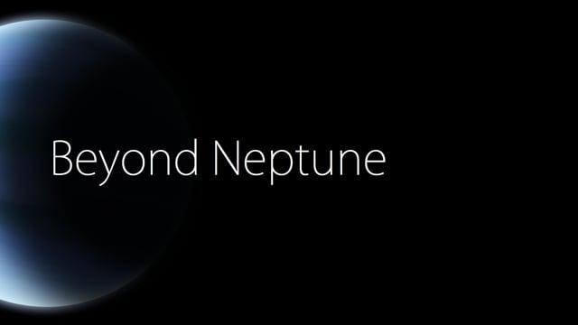 Beyond Neptune